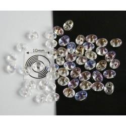 Tw35 margele PRECIOSA Twin 2.5x5mm, cristal AB, 5g