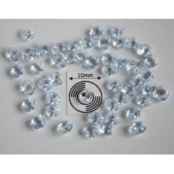 Tw41 margele PRECIOSA Twin 2.5x5mm, crystal light sapphire lined, 5g