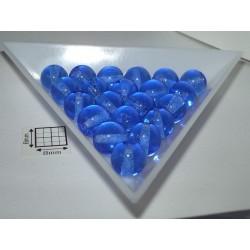 Margele sticla presata rotunde 8mm, albastru transparent, 10 buc