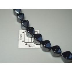 Margele sticla Cehia bicon 6 mm culoare hematit (10 buc).
