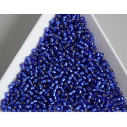 Toho R11-28F, Silver-Lined Frosted Dark Sapphire, 10g