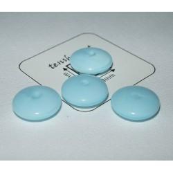 Margele sticla Cehia disc 10 x 3.70 mm culoare albastru deschis (10 buc).