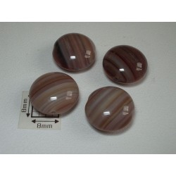 Margele sticla Cehia disc maro cu dungi 13.50 x 7.30 mm (2 buc).