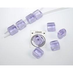 Margele sticla Cehia forma silky arc cca 6 x 3.50 mm culoare alexandrit/efect alexandrit (10 buc).