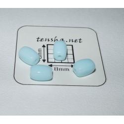Margele sticla Cehia tub 6 x 3.8 x 3.8 mm culoare albastru deschis(10 buc).