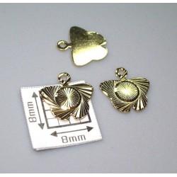 Charm alama placata cu aur fluture 10 mm (2 buc).
