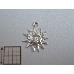 Charm alama placata cu argint soare 12 mm (2 buc).