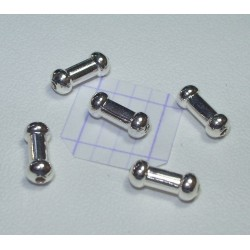 Margele metalice tub 7.4x3 mm alama placata cu argint (4 buc).