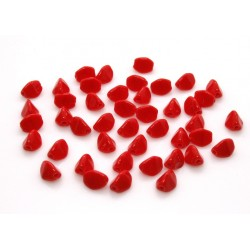 Margele Pinch 5x3mm, Opaque Red, 12 buc