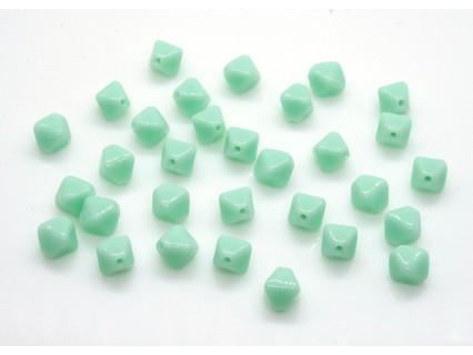 Margele sticla Cehia bicon 6 mm culoare opaque lt. green (10 buc).