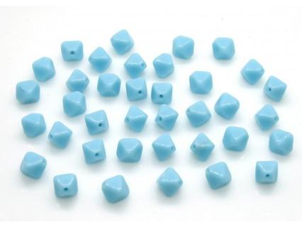 Margele sticla Cehia bicon 6 mm culoare opaque lt. blue (10 buc).