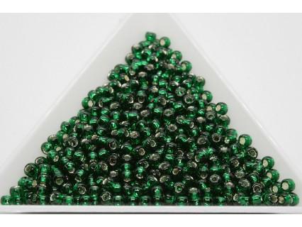 Toho R8-36, Silver-Lined Green Emerald, 10g