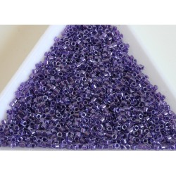 Delica DB906 - Sparkling Purple Lined Crystal, margele 11/0 Miyuki Delica, 5g