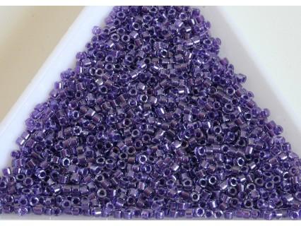 Delica DB906 - Sparkling Purple Lined Crystal, margele 11/0 Miyuki Delica, 5g