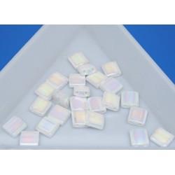 TL471 - Pearl White Opaque, margele Miyuki Tila 5x5x1.9mm, ~2g