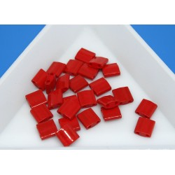 TL408 - margele Miyuki Tila 5x5x1.9mm, Opaque Red, ~2g