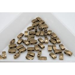 HTL457 - margele Miyuki Half Tila 5x2.3x1.9mm, Met Dark Bronze, ~2g