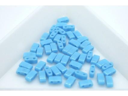 HTL413 - margele Miyuki Half Tila 5x2.3x1.9mm, Op Turquoise Blue, ~2g