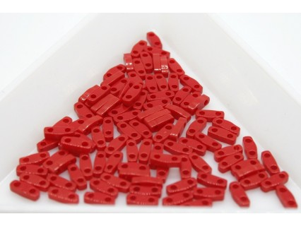 QTL408 - margele Miyuki Quarter Tila 5x1.2x1.9mm, Opaque Red, ~2g