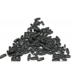 QTL401 - margele Miyuki Quarter Tila 5x1.2x1.9mm, Black, ~2g