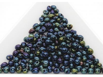 DP452 - margele Miyuki Drop 3.4mm, Met Dark Blue Iris, 5g