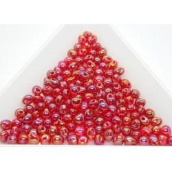 DP254 - margele Miyuki Drop 3.4mm, Trans Red AB, 5g