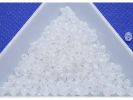 DP131FR - margele Miyuki Drop 3.4mm, Matte Trans Crystal AB, 5g