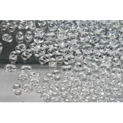 Margele Farfalle 2x4mm, Crystal Lustered (10g)
