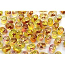 Margele Farfalle 3.2x6.5mm, Crystal Yellow-Rose (5g)