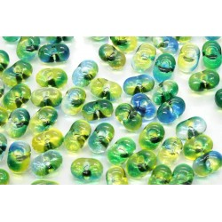 Margele Farfalle 3.2x6.5mm, Crystal Green-Blue (5g)