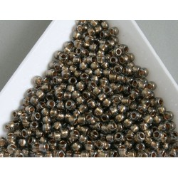 Toho R8-993, Gold-Lined Black Diamond, 10g
