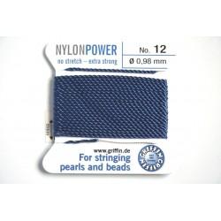 np12-10 blue - fir nylon nr.12, grosime 0.98mm, cu ac atasat ( 2m, pe cartonas )