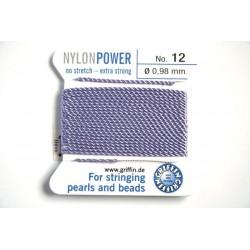 np12-12 lilac - fir nylon nr.12, grosime 0.98mm, cu ac atasat ( 2m, pe cartonas )