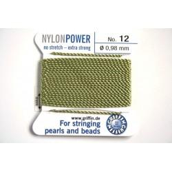 np12-15 jade green - fir nylon nr.12, grosime 0.98mm, cu ac atasat ( 2m, pe cartonas )