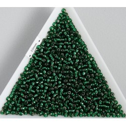 Toho R11-36, Silver-Lined Green Emerald, 10g
