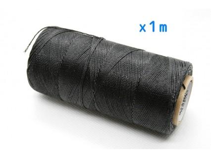 Linhasita - fir poliester cerat 0.75mm, negru, x1m