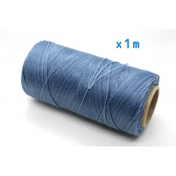 Linhasita - fir poliester cerat 0.75mm, Denim Blue, x1m