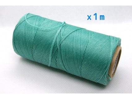 Linhasita - fir poliester cerat 0.75mm, Green Turquoise, x1m