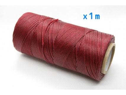 Linhasita - fir poliester cerat 0.75mm, Burgundy, x1m