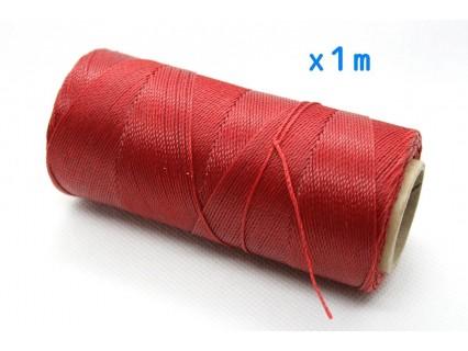 Linhasita - fir poliester cerat 0.75mm, Red, x1m