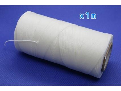 Linhasita - fir poliester cerat 0.75mm, alb, x1m