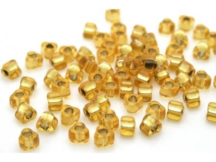MTR5-1102 Silver-Lined Gold, Miyuki 5/0 margele Triunghi, 5g
