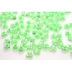 MTR5-1120 Color-Lined Lt Green, Miyuki 5/0 margele Triunghi, 5g