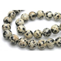 Jasp Dalmatian - margele rotunde 8mm, 4 bucati