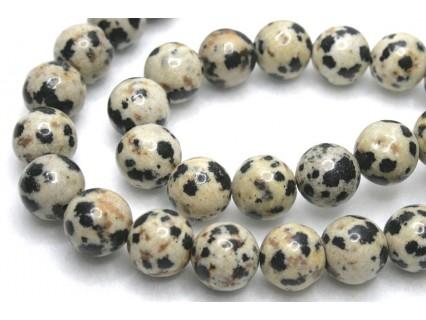 Jasp Dalmatian - margele rotunde 8mm, 4 bucati