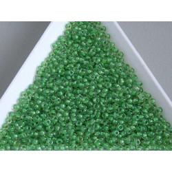 Toho R11-184, Inside-Color Luster Crystal/Spearmint Lined, 10g