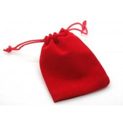 Saculet pentru cadouri, din catifea, rosu, cca 7x9cm
