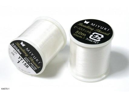 Ață Miyuki albă K4570-1, bobină 50m
