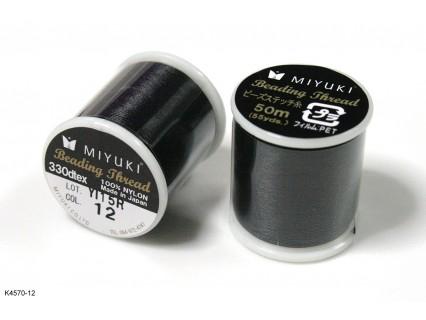 Ață Miyuki neagră K4570-12, bobină 50m
