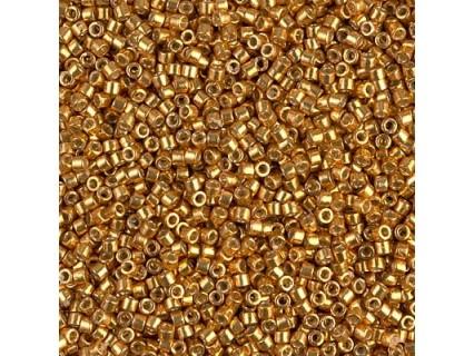 Delica DB1833 - Duracoat Galv Yellow Gold, margele 11/0 Miyuki Delica, 2.5g